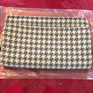 Thirty One perfect cents wallet Grey Houndstooth